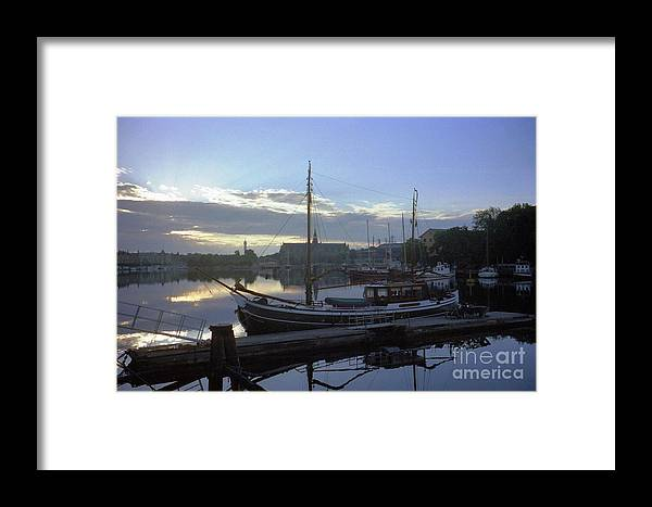 Sweden Framed Print featuring the photograph Stockholm City Harbor Dwan by Ted Pollard
