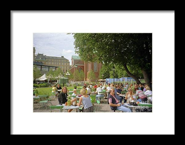 Sweden Framed Print featuring the photograph Stockholm City Restaurant by Ted Pollard