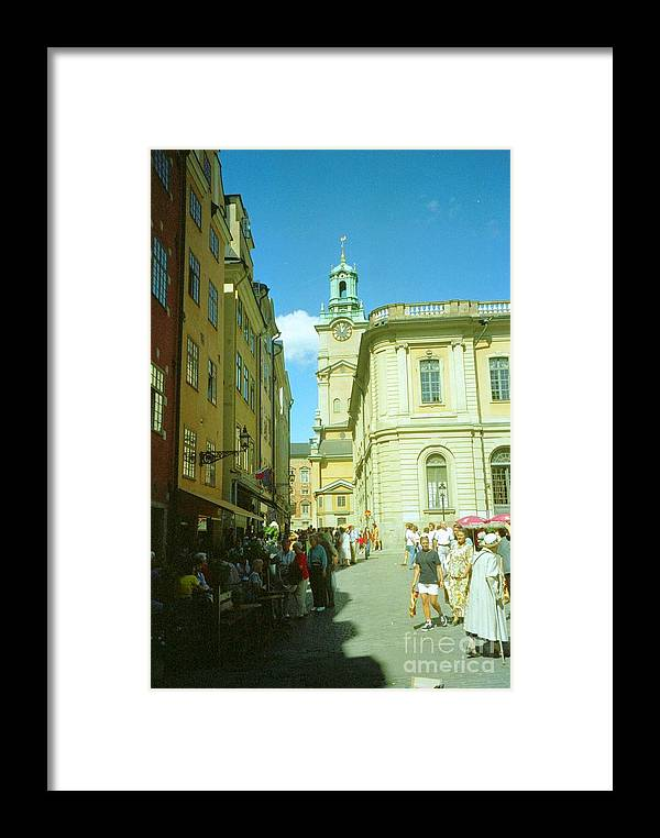 Sweden Framed Print featuring the photograph Stockholm City Tower Square by Ted Pollard