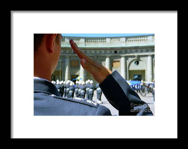 Sweden Framed Print featuring the photograph Stockholm Palace Guard Change by Ted Pollard