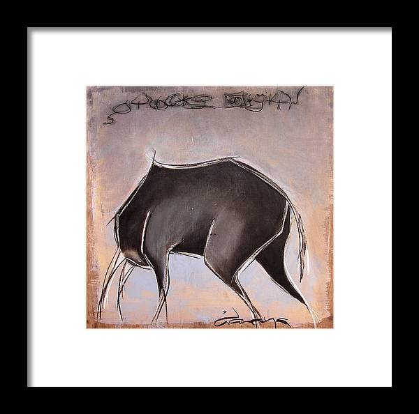Charcoal Framed Print featuring the painting Stolen Dignity by Dianaya Anaya