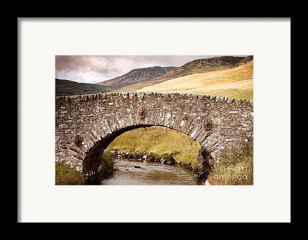 Bridge Framed Print featuring the photograph Stone Bridge Highlands by Jane Rix