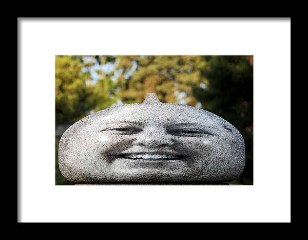 Face Framed Print featuring the photograph Stone Face by Gene Tatroe