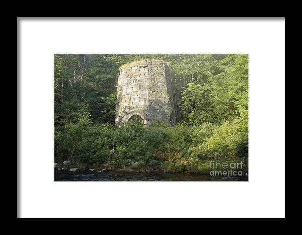 New England Framed Print featuring the photograph Stone Iron Furnace - Franconia New Hampshire by Erin Paul Donovan