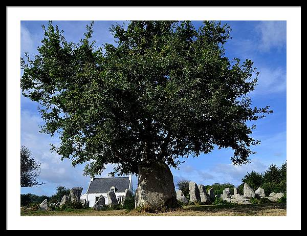 Menhirs Framed Print featuring the photograph Stone tree by Patrick Pestre