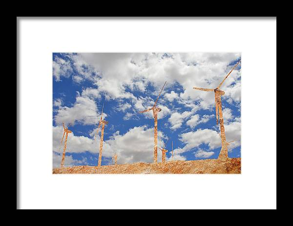 Wind Mull Framed Print featuring the photograph Stone Wind Mills by Robert Chartier