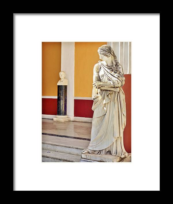 Statue Framed Print featuring the photograph Stop Staring by Penny Pesaturo