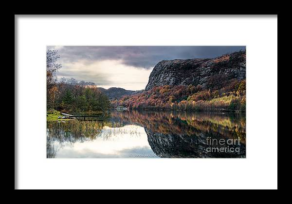 Norway Framed Print featuring the photograph Storavatnet In Fall by Jaroslaw Oleksyk