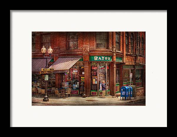 Pearl St Framed Print featuring the photograph Store - Albany Ny - The Bayou by Mike Savad