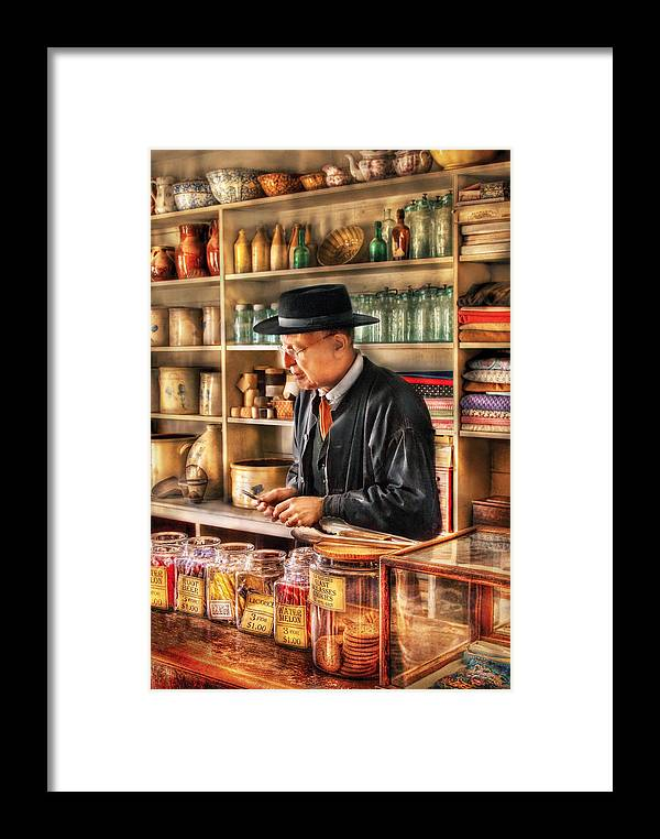 Savad Framed Print featuring the photograph Store - In The General Store by Mike Savad