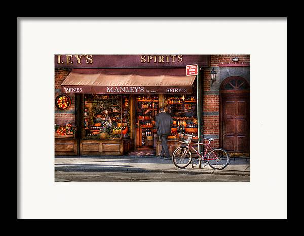 Manley Framed Print featuring the photograph Store - Wine - Ny - Chelsea - Wines And Spirits Est 1934 by Mike Savad
