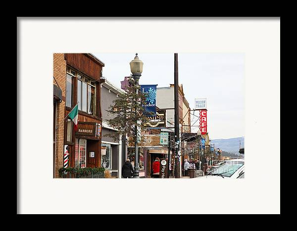 Tahoe Framed Print featuring the photograph Storefront Shops In Truckee California 5d27489 by Wingsdomain Art and Photography