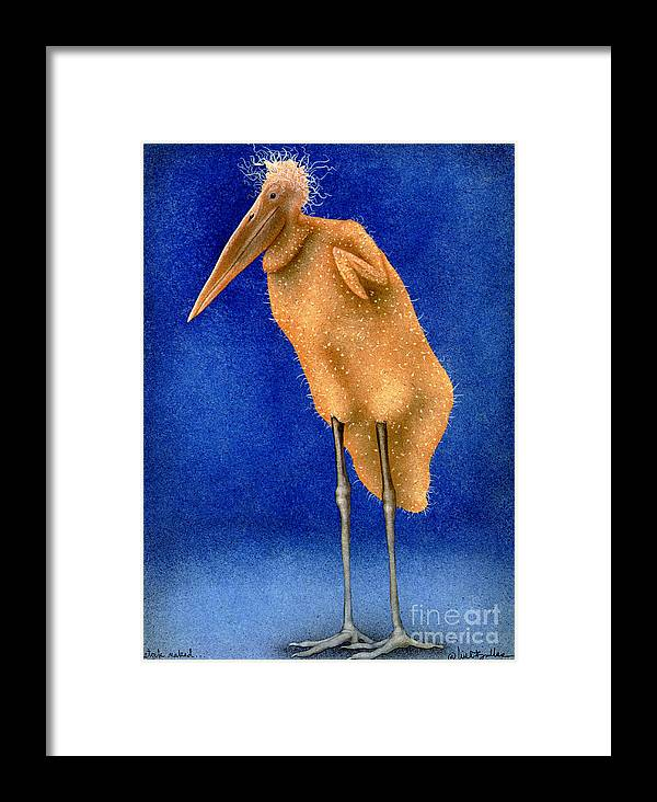 Will Bullas Framed Print featuring the painting Stork Naked... by Will Bullas