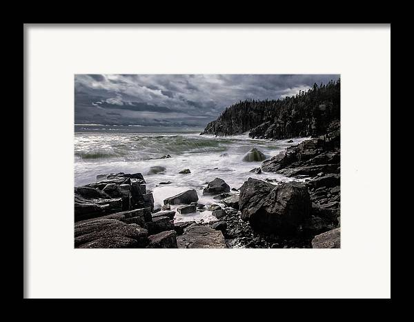 Gulliver's Hole Framed Print featuring the photograph Storm At Gulliver's Hole by Marty Saccone