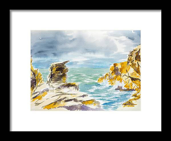 Nature Framed Print featuring the painting Storm Coming by Walt Brodis