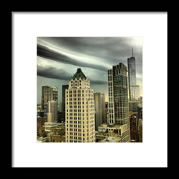 Framed Print featuring the photograph Storm Front by Jill Tuinier
