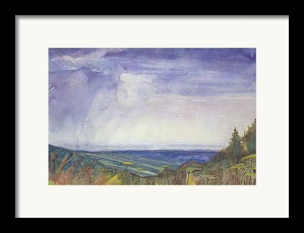 Summer Storm Framed Print featuring the painting Storm Heaves - Hog Hill by Grace Keown