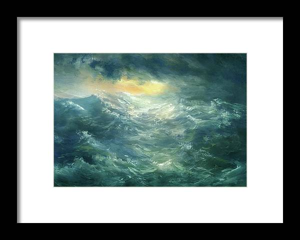 Scenics Framed Print featuring the digital art Storm Is Coming by Pobytov