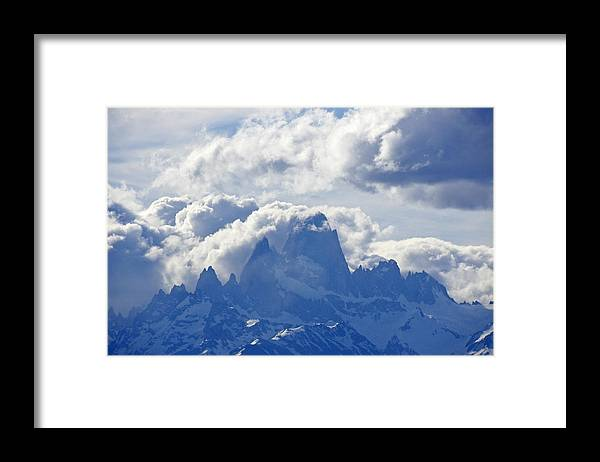 Argentina Framed Print featuring the photograph Storm Over Fitz Roy 1 by Michele Burgess