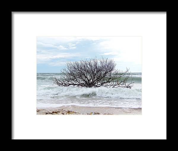 Landscape Photography Framed Print featuring the photograph Storm Tide by Chris Mercer
