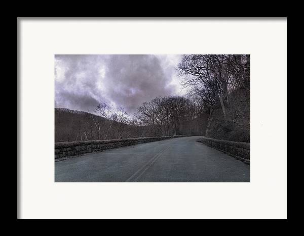 Blue Framed Print featuring the photograph Stormy Blue Ridge Parkway by Betsy Knapp