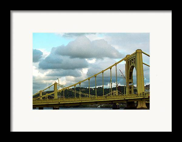 Allegheny Framed Print featuring the photograph Stormy Bridge by Frank Romeo
