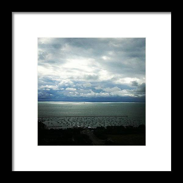Harbor Framed Print featuring the photograph Stormy Clouds Making Way For Sunshine by Jill Tuinier