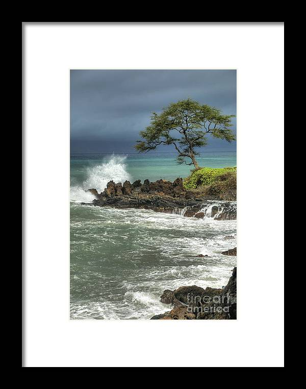 Waterscape Framed Print featuring the photograph Stormy Maui Morning by Sandra Bronstein