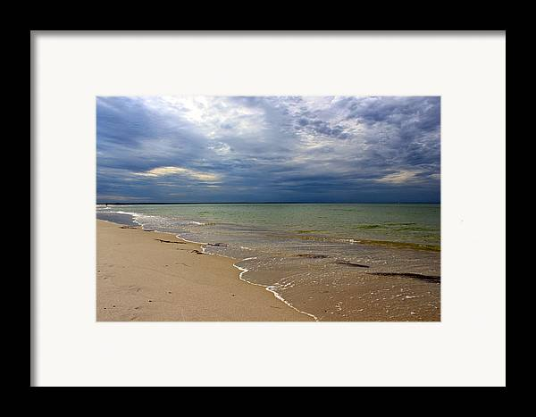 Mayflower Beach Framed Print featuring the photograph Stormy Mayflower Beach by Amazing Jules