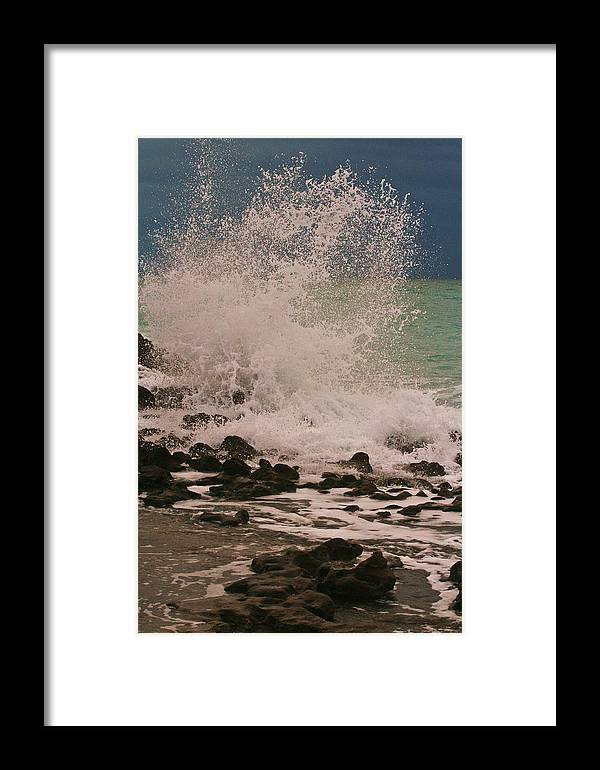 Waves Framed Print featuring the photograph Stormy Morning by PMG Images