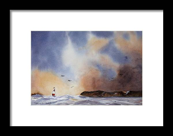 Sealscape Framed Print featuring the painting Stormy Sea by Patricia Novack