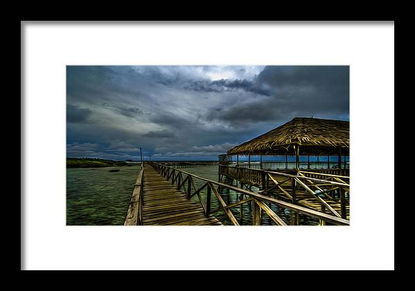 Siargao Framed Print featuring the photograph Stormy Siargao by Ferli DCruz