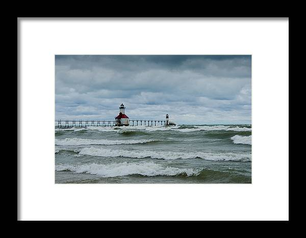 Christopher List Framed Print featuring the photograph Stormy Waters by Gales Of November