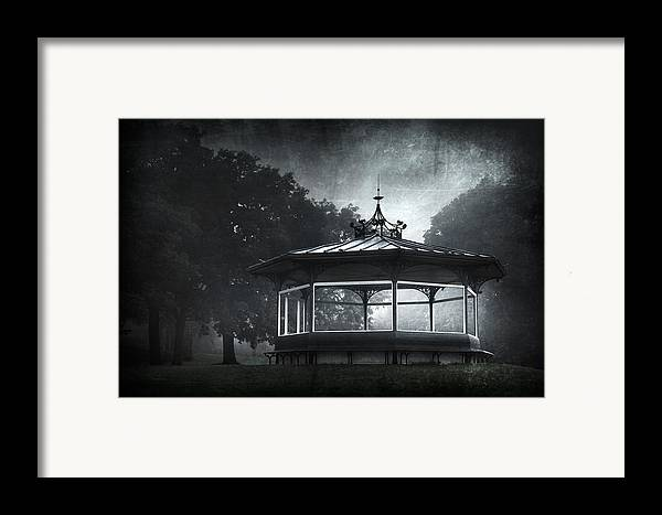 Abandoned Framed Print featuring the photograph Storytelling Gazebo by Svetlana Sewell