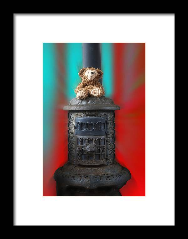 Fantasy Framed Print featuring the photograph Stove Top Bear by Thomas Woolworth