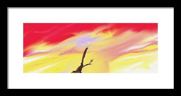Digital Art Framed Print featuring the painting Strain Awaiting by Nicla Rossini