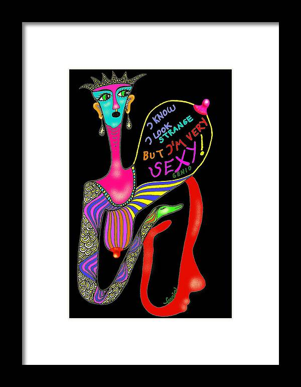 Genio Framed Print featuring the mixed media Strange But Sexy by Genio GgXpress