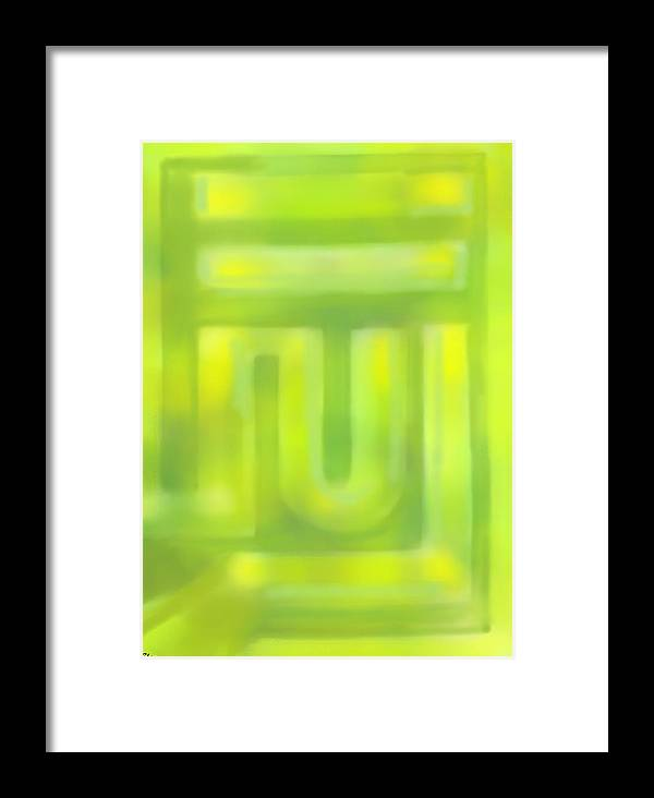 Painting Abstract Art Framed Print featuring the painting Strange Maze by Samu El Ghee