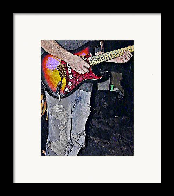 Music Framed Print featuring the photograph Strat Man by Chris Berry