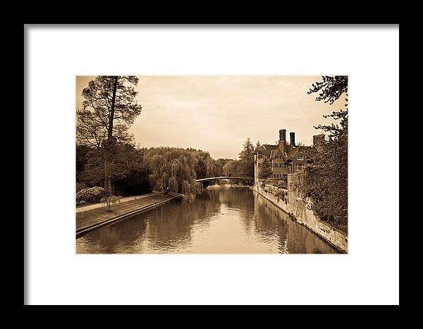 20110415-dsc06626 Framed Print featuring the photograph Stratfore On Avon In Sepia by Douglas Barnett