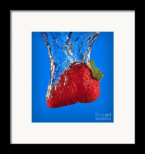 Strawberry Framed Print featuring the photograph Strawberry Slam Dunk by Susan Candelario