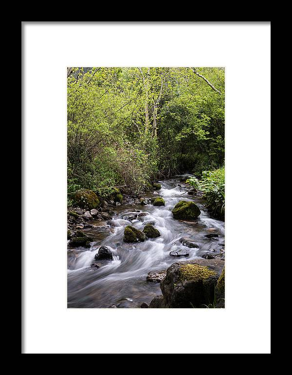 Landscape Framed Print featuring the photograph Stream At Glencar by MaryGail Perkins