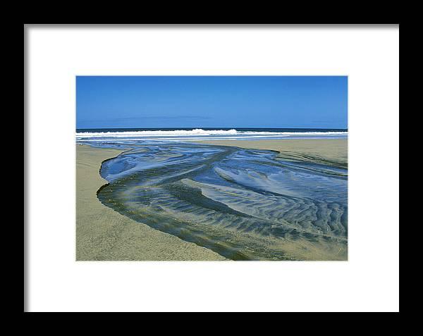 Beach Framed Print featuring the photograph Stream On Beach by Bernard Barcos