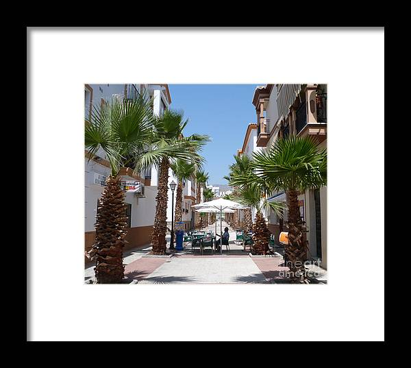 Salobrena Framed Print featuring the photograph Street Cafe - Salobrena by Phil Banks