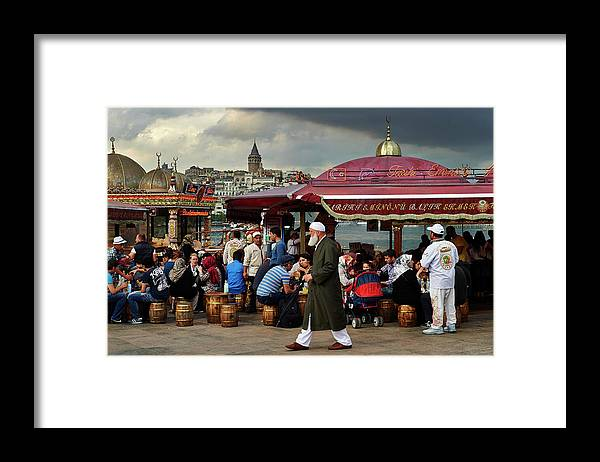 Istanbul Framed Print featuring the photograph Street Food On The Golden Horn, Istanbul by Andrea Pistolesi