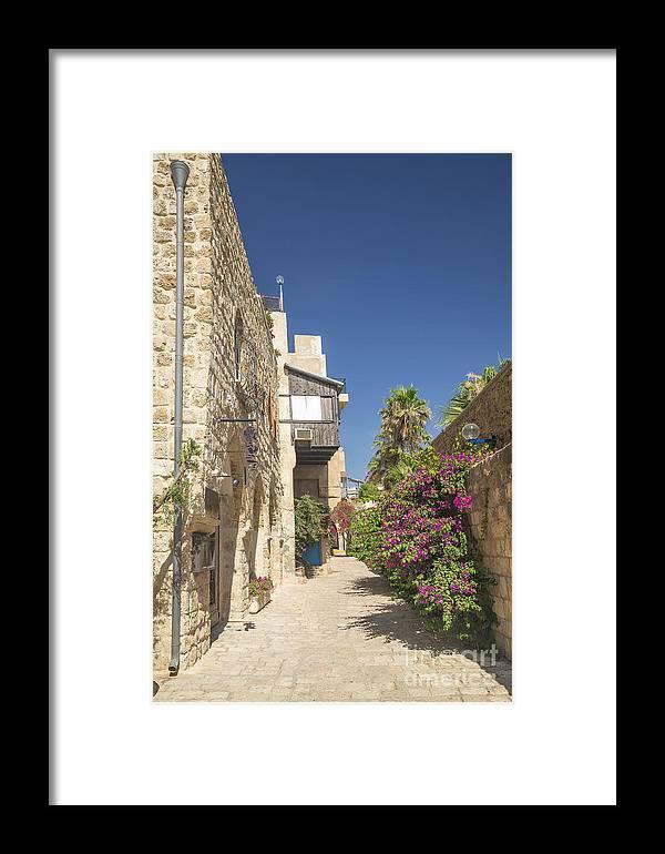 Alley Framed Print featuring the photograph Street In Jaffa Tel Aviv Israel by Jacek Malipan