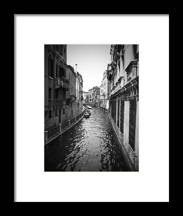Italian Framed Print featuring the photograph Street of Water by Todd Hartzo