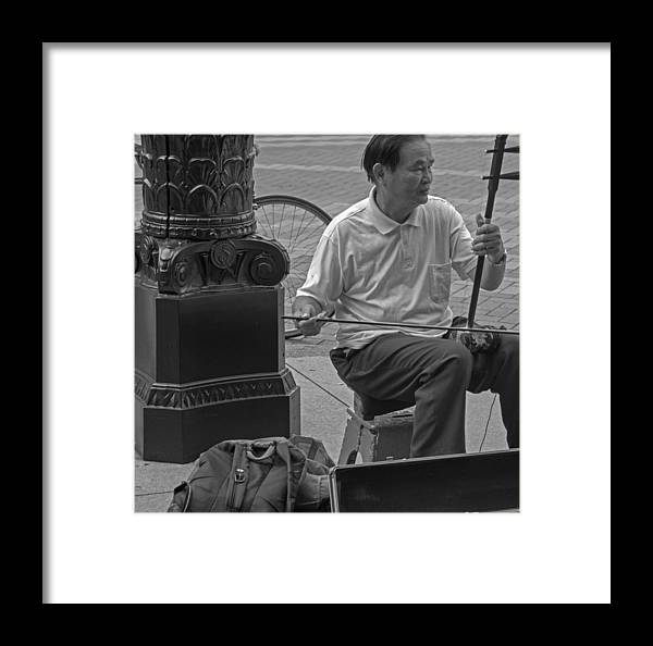 Street Framed Print featuring the photograph Street Strings by Yuri Levchenko