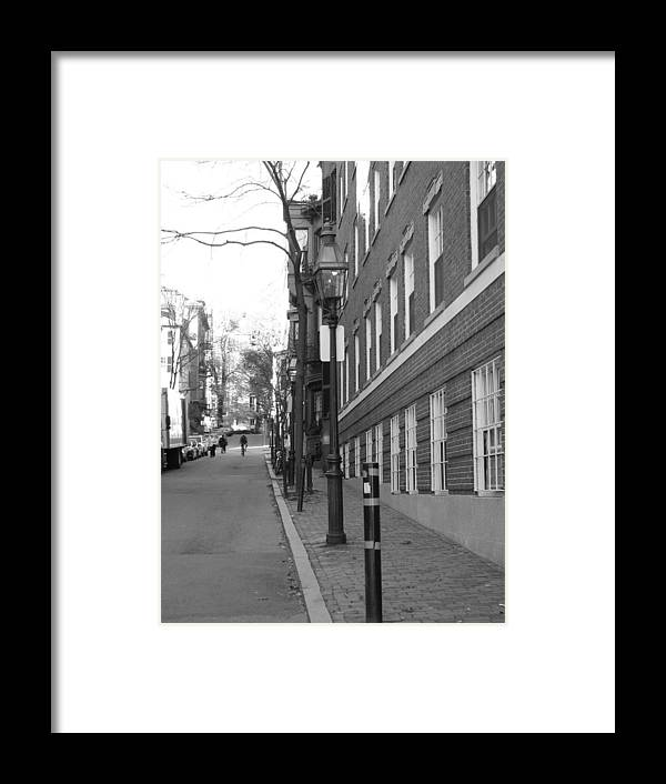 Landscape Framed Print featuring the photograph Streets Of Boston by Michelle Lawrence