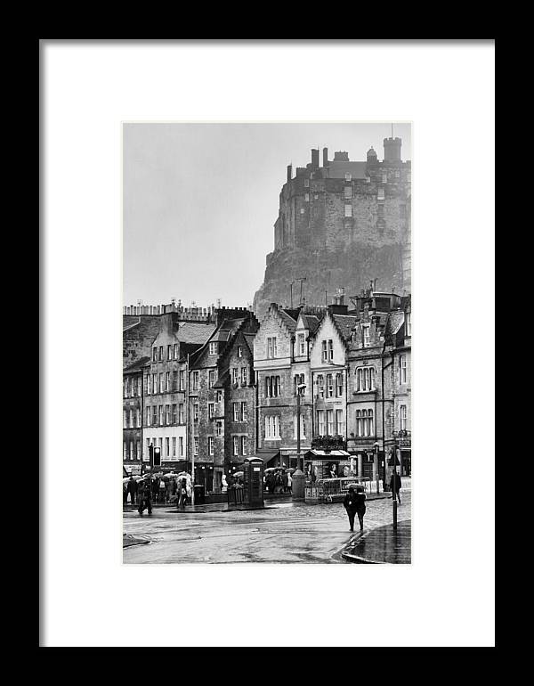 Edinburgh Framed Print featuring the photograph Streets Of Edinburgh 1 by Roger Fonts